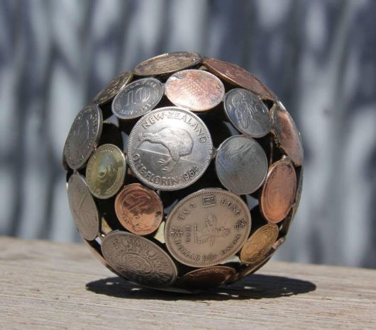 Artist Turns Old Keys And Coins Into Recycled Art