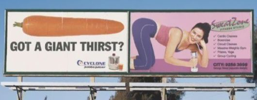 The Worst Placed Adverts