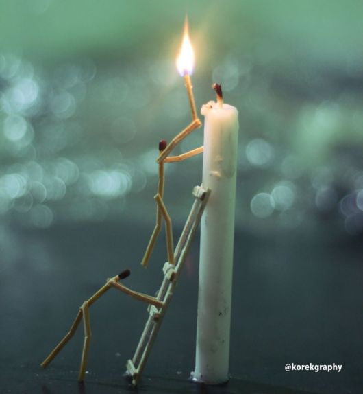 Life Defined In Matchsticks