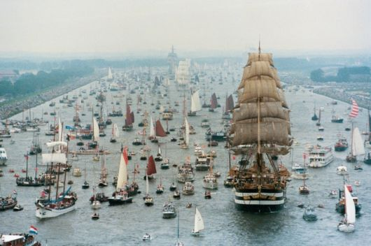 A Parade Of Boats In Amsterdam