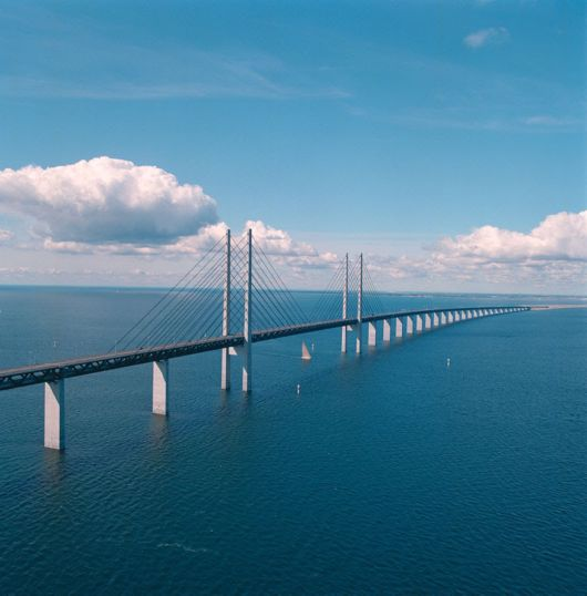The Bridge Connecting Denmark And Sweden