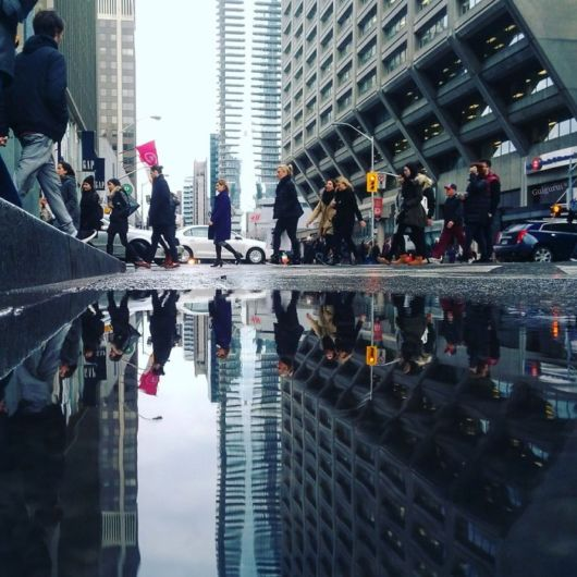 The Symmetrical Worlds Of Puddles In Toronto