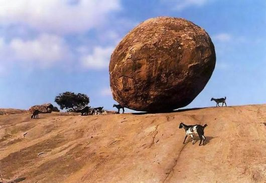 This Is Krishna's Mysterious Butter Ball Rock And It Has Never Rolled Downhill