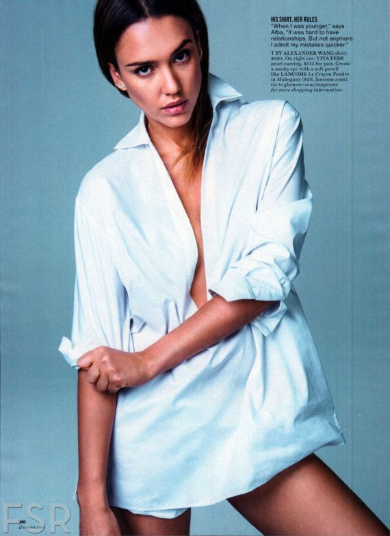 Jessica Alba Shoots For Glamour Magazine