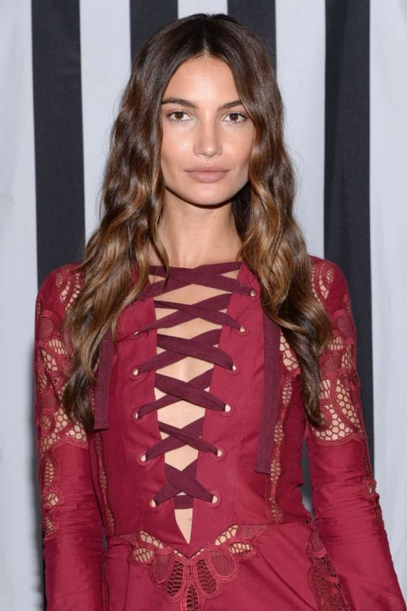 Lily Aldridge At The 12th Annual Leather And Laces Super Bowl Party