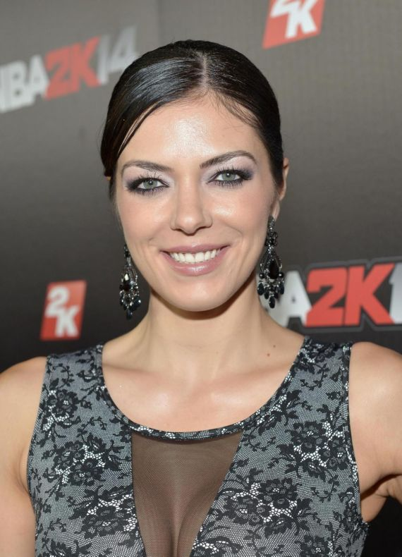 Adrianne Curry Attends NBA 2K14 Premiere