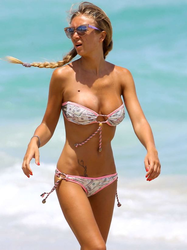 Laura Cremaschi On A Vacation In Miami