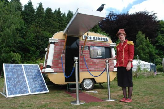 World's Smallest Solar Powered Movie Theatre